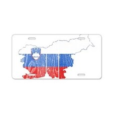 Slovenia Flag And Map Aluminum License Plate