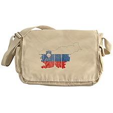 Slovenia Flag And Map Messenger Bag