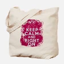 Multiple Myeloma Keep Calm Fight On Tote Bag