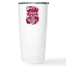 Multiple Myeloma Keep Calm Fight On Travel Mug