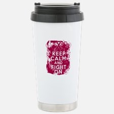 Multiple Myeloma Keep Calm Fight On Travel Mug