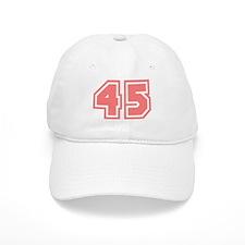 Varsity Uniform Number 45 (Pink) Baseball Cap
