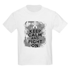 Mesothelioma Keep Calm Fight On T-Shirt