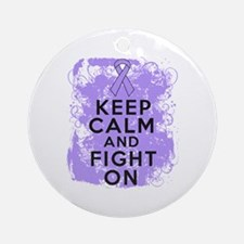 General Cancer Keep Calm Fight On Ornament (Round)
