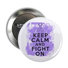 """General Cancer Keep Calm Fight On 2.25"""" Button"""