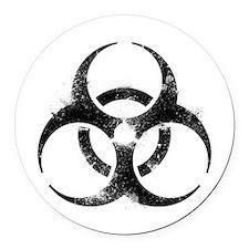 Biohazard Symbol Round Car Magnet