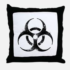 Biohazard Symbol Throw Pillow