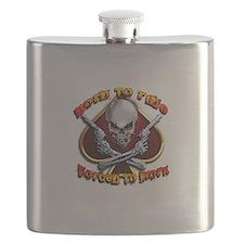 chrome skull Flask