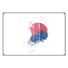 South Korea Flag And Map Banner