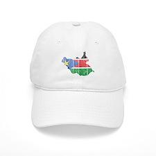 South Sudan Flag And Map Baseball Cap