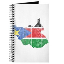South Sudan Flag And Map Journal
