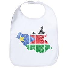 South Sudan Flag And Map Bib