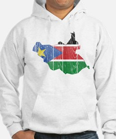 South Sudan Flag And Map Hoodie