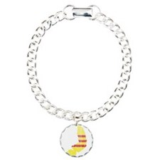 South Vietnam Flag And Map Bracelet