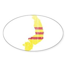 South Vietnam Flag And Map Decal