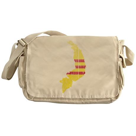 South Vietnam Flag And Map Messenger Bag
