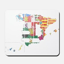Spain Subdivisions Flag And Map Mousepad