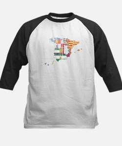 Spain Subdivisions Flag And Map Tee