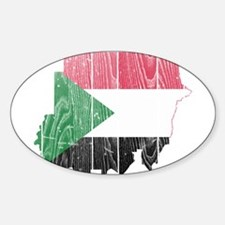 Sudan Flag And Map Decal