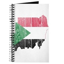 Sudan Flag And Map Journal