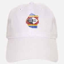 Swaziland Flag And Map Baseball Baseball Cap