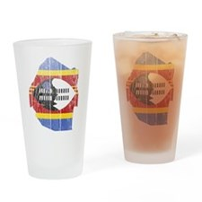 Swaziland Flag And Map Drinking Glass