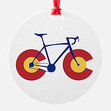 Colorado Flag Bicycle Ornament