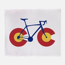 Colorado Flag Bicycle Throw Blanket