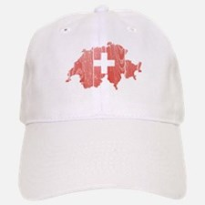 Switzerland Flag And Map Baseball Baseball Cap
