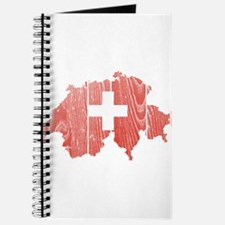 Switzerland Flag And Map Journal