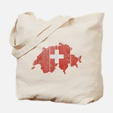 Switzerland Flag And Map Tote Bag