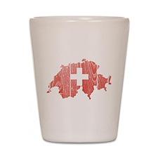 Switzerland Flag And Map Shot Glass