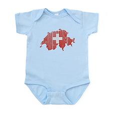 Switzerland Flag And Map Infant Bodysuit