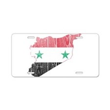 Syria Flag And Map Aluminum License Plate