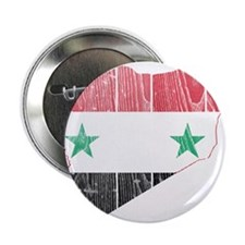 """Syria Flag And Map 2.25"""" Button"""