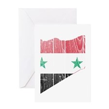 Syria Flag And Map Greeting Card