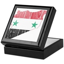 Syria Flag And Map Keepsake Box