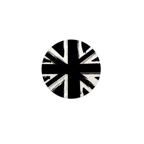 Abstract art union jack Mini Button