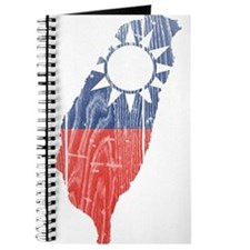 Taiwan Flag And Map Journal