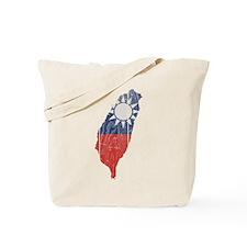Taiwan Flag And Map Tote Bag