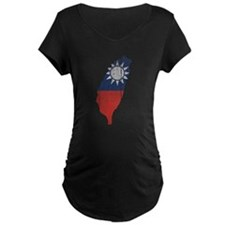 Taiwan Flag And Map T-Shirt