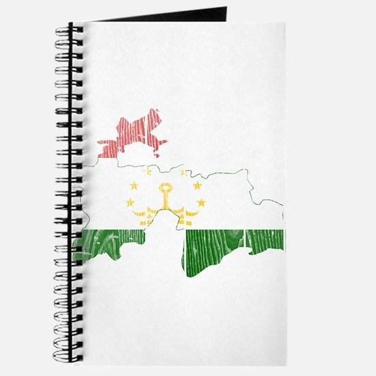 Tajikistan Flag And Map Journal