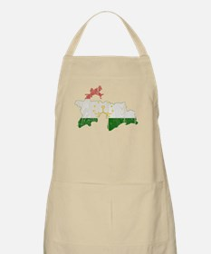 Tajikistan Flag And Map Apron