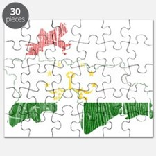 Tajikistan Flag And Map Puzzle