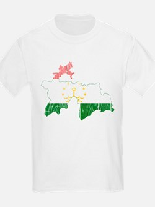 Tajikistan Flag And Map T-Shirt