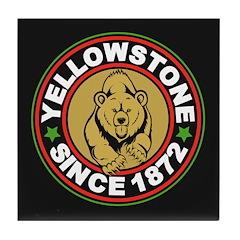 Yellowstone Black Circle Tile Coaster