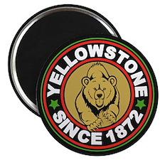 Yellowstone Black Circle Magnet
