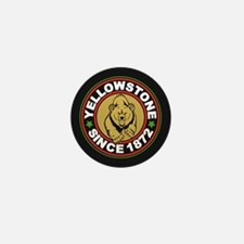 Yellowstone Black Circle Mini Button