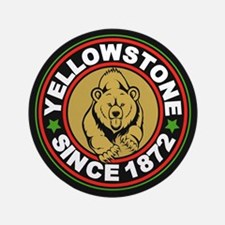 "Yellowstone Black Circle 3.5"" Button"