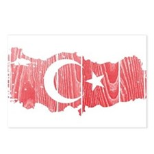 Turkey Flag And Map Postcards (Package of 8)